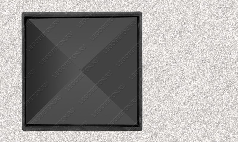 Форма «Крышка столба забора 4-х скатная» [92/1A] FR130.1-3
