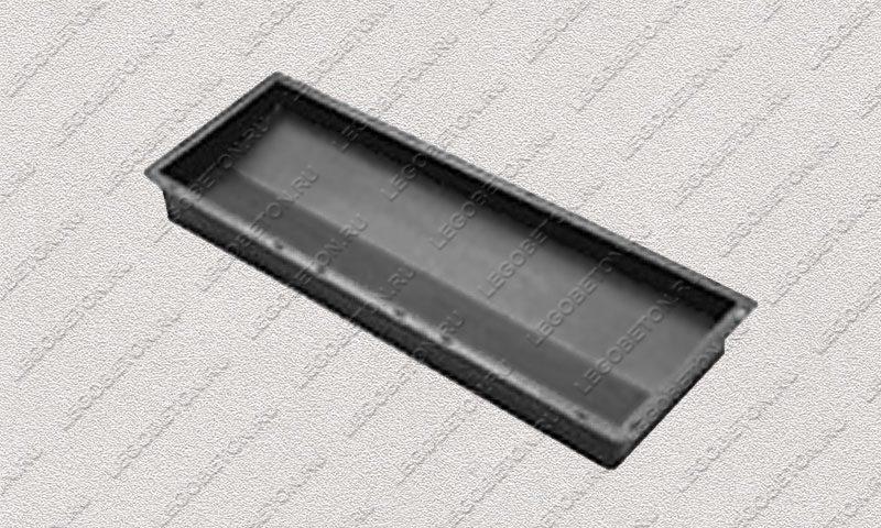 Форма «Крышка панели забора 2-х скатная» [92/2A] FR132.1-3