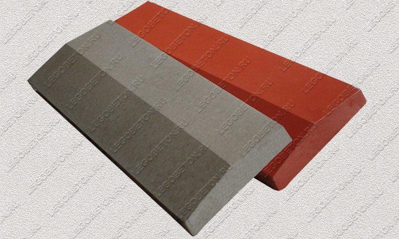 Форма «Крышка панели забора 2-х скатная» [92/2A] FR132.1-4