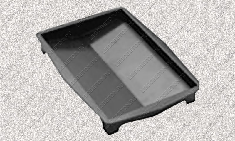 Форма «Крышка панели забора 2-х скатная» [92/2B] FR133.1-4