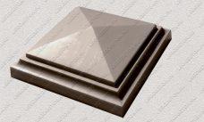 пластиковая форма для изделий из бетона Навершие забора №1 «Четырехскатное» в 1 кирпич купить, форма для изделий из бетона Навершие забора №1 «Четырехскатное» в 1 кирпич цена