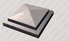 пластиковая форма для изделий из бетона Навершие забора №5 «Четырехскатное» купить, форма для изделий из бетона Навершие забора №5 «Четырехскатное» цена