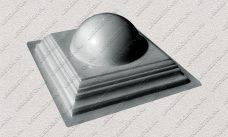 пластиковая форма для изделий из бетона Навершие забора №8 «Полушарие малое» купить, форма для изделий из бетона Навершие забора №8 «Полушарие малое» цена