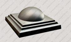 пластиковая форма для изделий из бетона Навершие забора №9 «Полушарие большое» купить, форма для изделий из бетона Навершие забора №9 «Полушарие большое» цена
