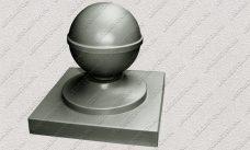 пластиковая форма для изделий из бетона Навершие забора №10 «Шар» купить, форма для изделий из бетона Навершие забора №10 «Шар» цена