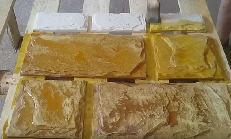 окраска бетона кислотными красителями, окраска искусственного камня кислотным красителем