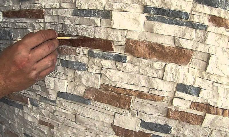 окраска искусственного камня, окраска готового искусственного камня из гипса