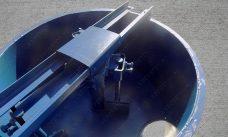 принудительный бетоносмеситель на 200 л. - фото чаши с открытым окном выгрузки