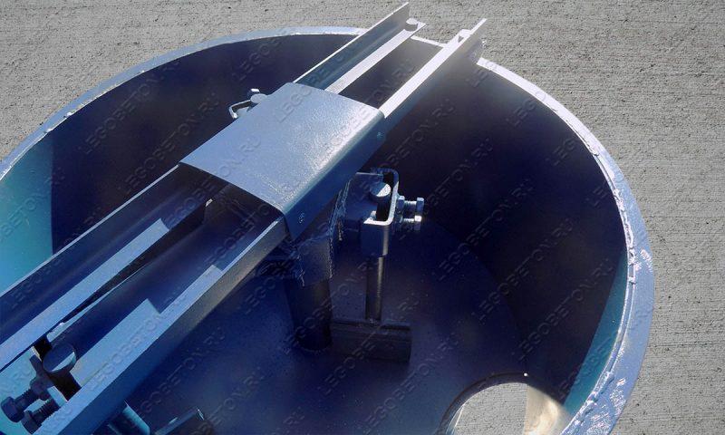 Принудительный бетоносмеситель РПДВ-200 — вид сверху