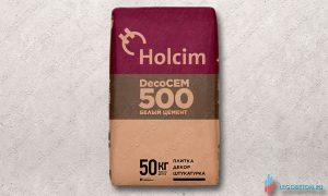Белый цемент М600 Holcim Decocem 500-50кг купить со склада в Москве