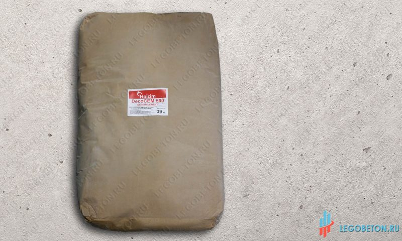 Цемент белый Holcim-DecoCem500-39