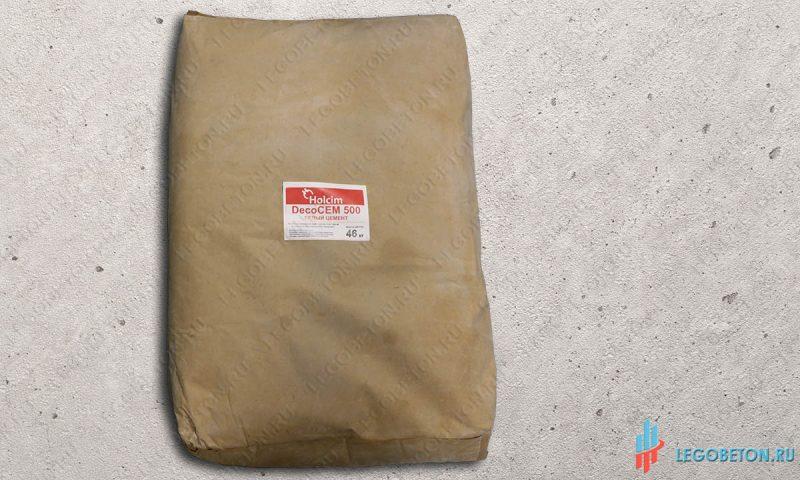 Белый цемент Holcim DecoCem-500-46 кг