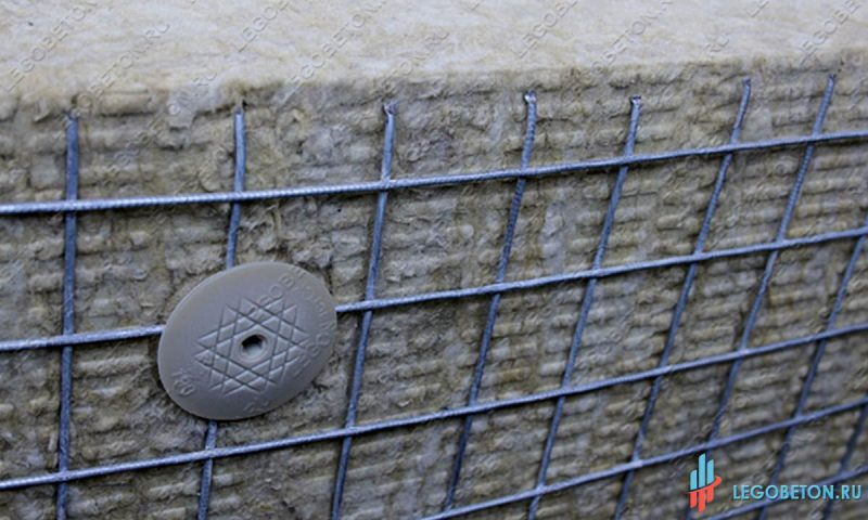 Шуруп крепления теплоизоляции к газобетону