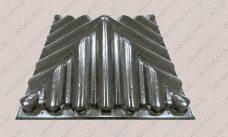 пластиковая форма Крышка столба черепица-57х57 из АБС