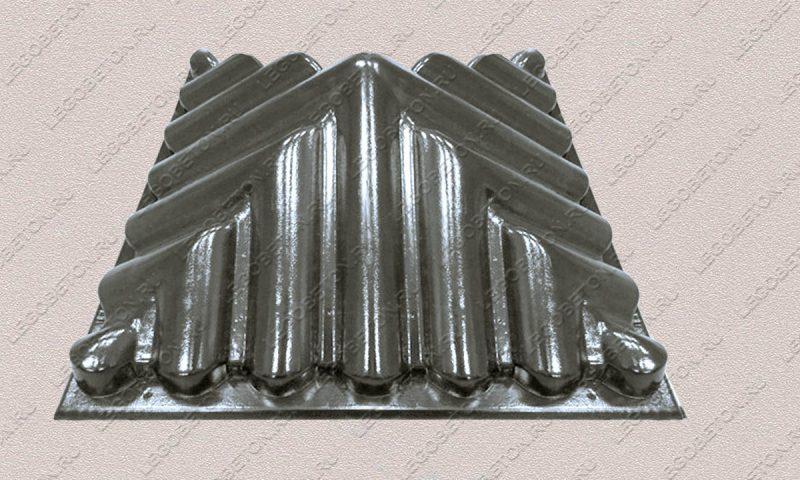 пластиковая форма Крышка черепица-57