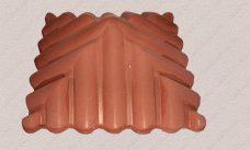 пластиковая форма крышка столба черепица-57