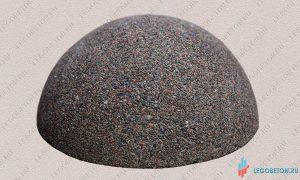 декоративная бетонная полусфера из мытого бетона