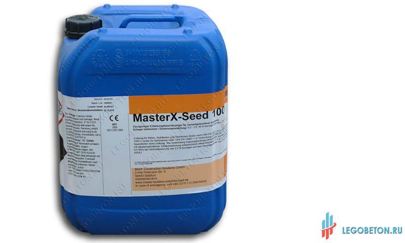 ускоритель схватывания цемента master x-seed 100 (20 кг)