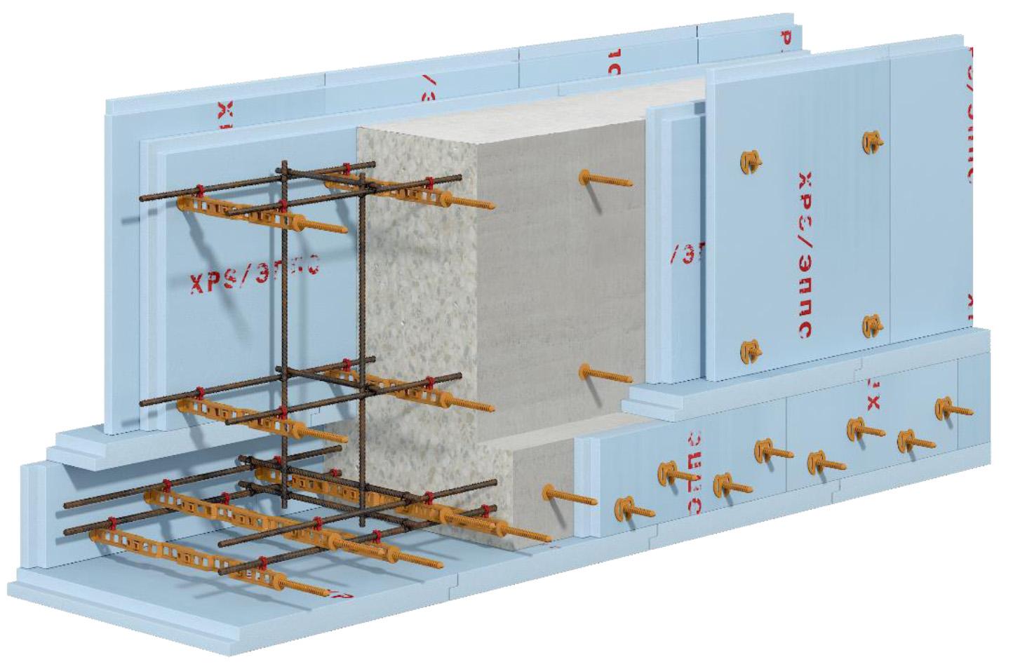 применение несъемной стяжки свт-2 для ленточного фундамента