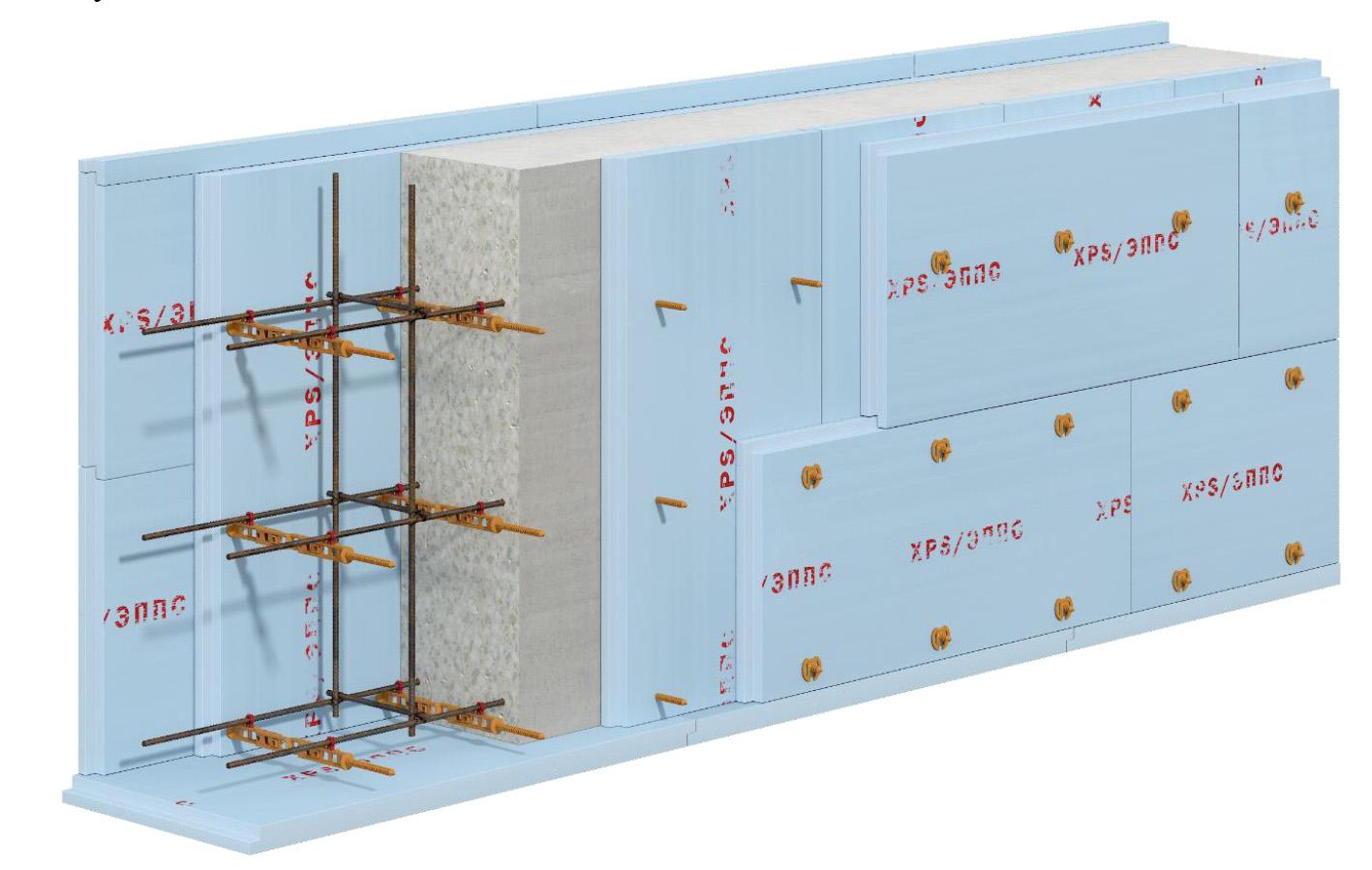использование несьемной стяжки свт-2 для ленточного прямого фундамента