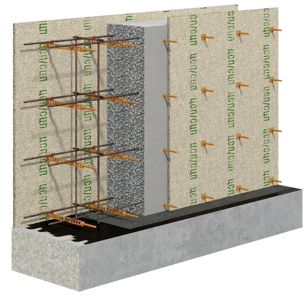 применение несъемной стяжки опалубки свт-2 для конструкции стены из ЦСП/СЦП/ОСБ