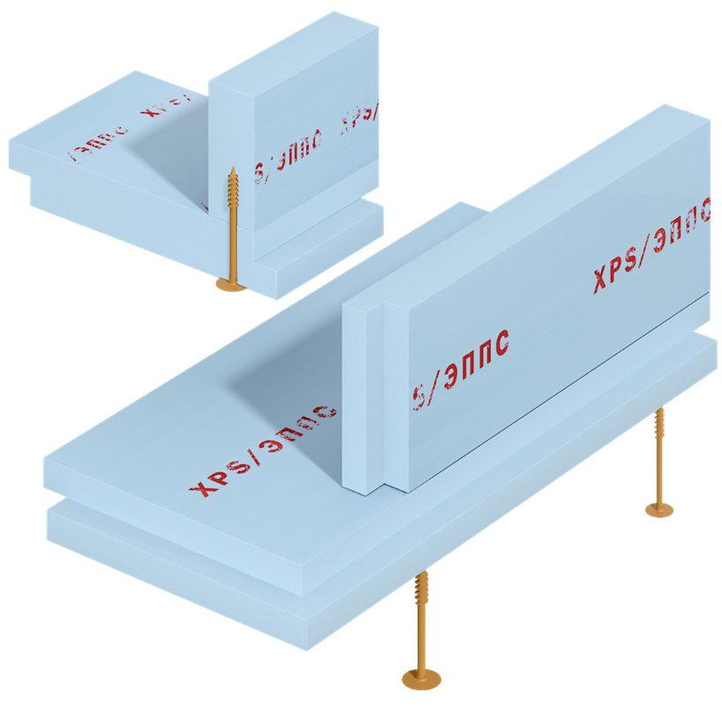 утепление кромки плиты фундамента с помощью ШУРУПА СВТ Ф18