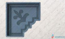 форма для плитки краковский клевер угол