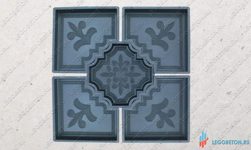 форма для плитки краковский клевер (угол)-2