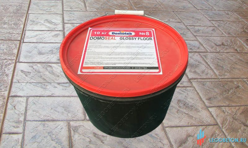 лак для штампованного бетона domoseal-glossy