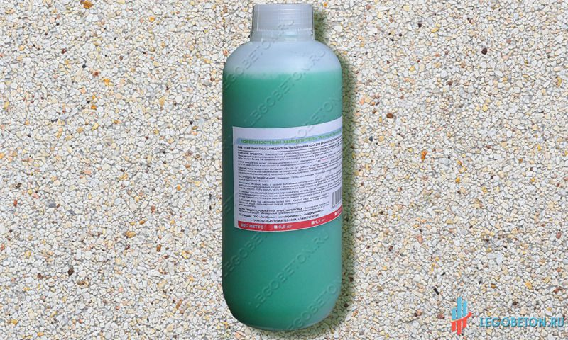 Замедлитель твердения бетона поверхностный — ЛАК-фракция 5-20 мм.