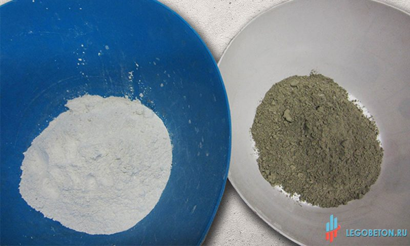 белый vs серый цемент