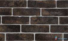 """угловая плитка под кирпич """"Заводской"""" с кислотной и обьемной окраской - черный-R004"""