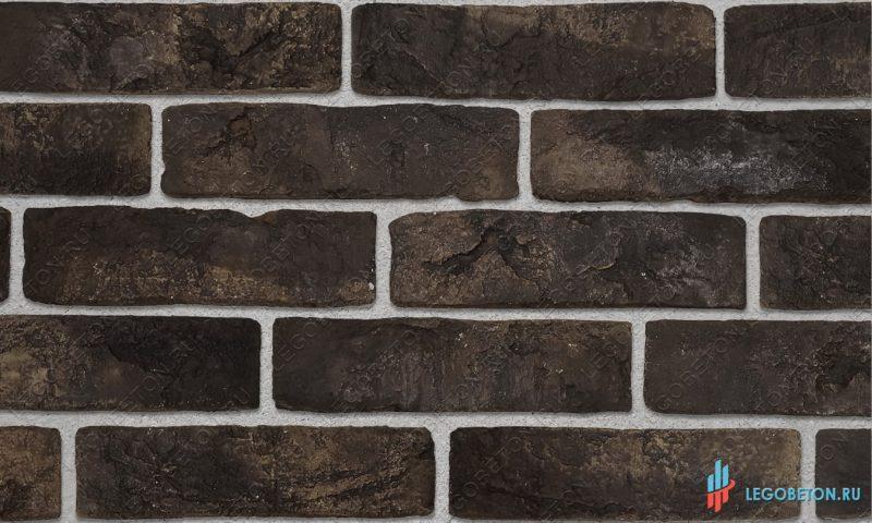 плитка под кирпич «Заводской» — Черный-R004