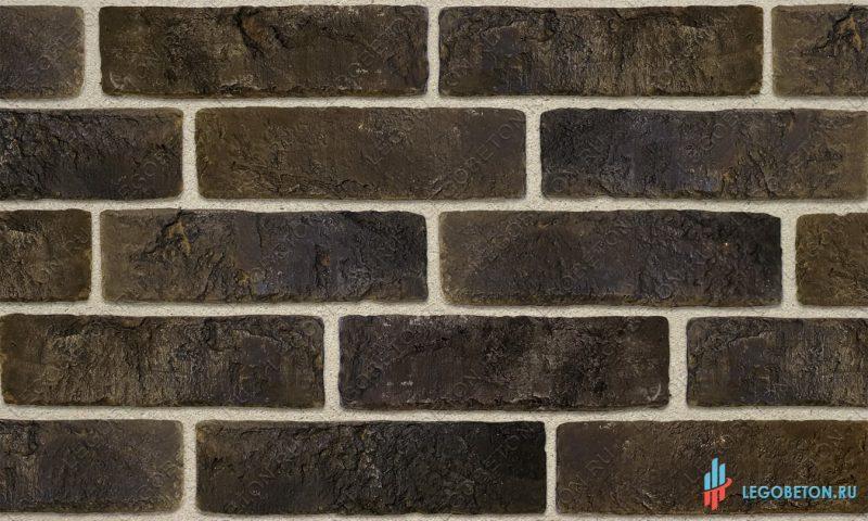 плитка под кирпич «Заводской» — Черный-R009