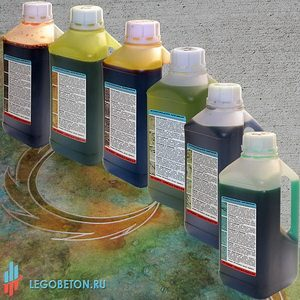 Кислотные красители для бетона