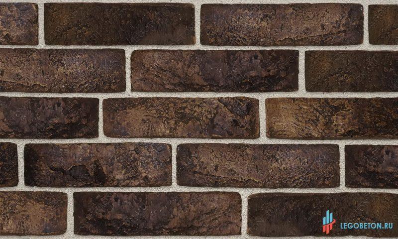 плитка под кирпич «Заводской» — Коричневый-R006