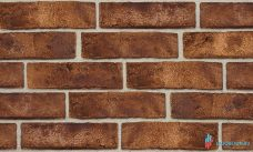 фосадная плитка под кирпич с кислотно-обьемной окраской - коричневая R013