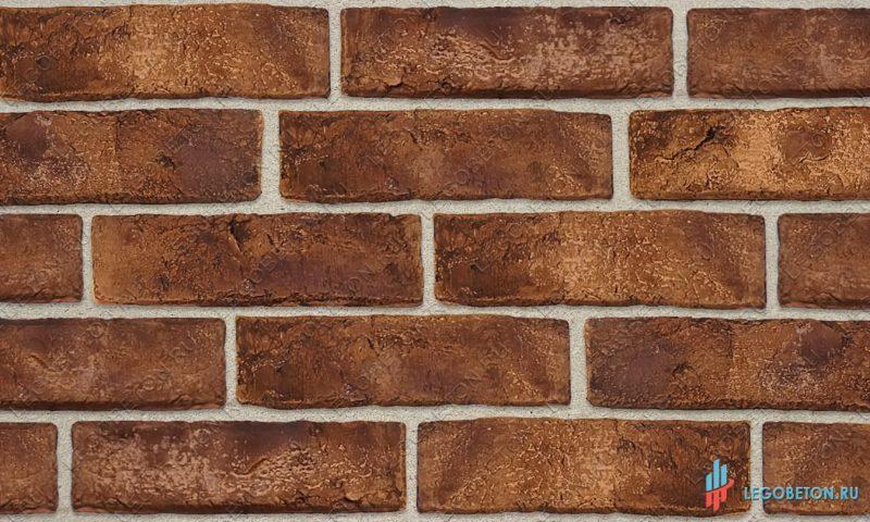 фасадная плитка под кирпич «Заводской» — Коричневый-R013