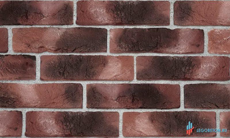 плитка под кирпич «Заводской» — Красный-R010