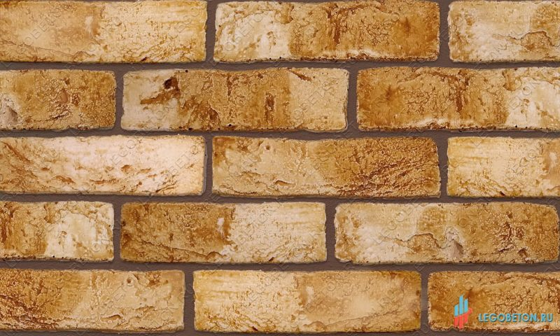 плитка под кирпич «Заводской» — Желтый-R005(2)