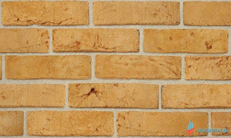 плитка под кирпич «Заводской» — Желтый-R011(1)