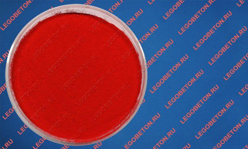 сухой краситель для бетона алый светопрочный СВ-3026