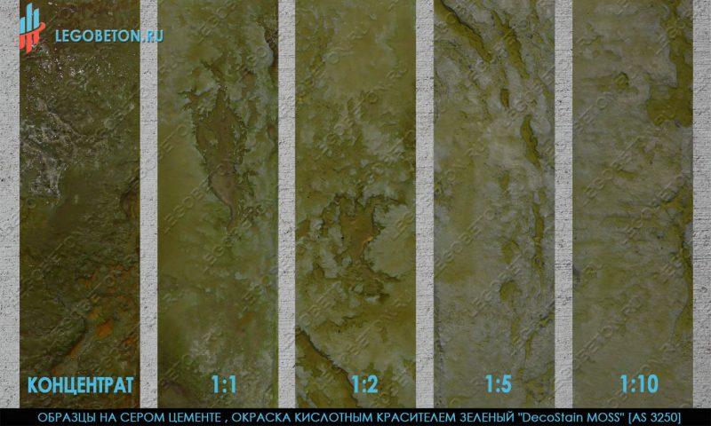 кислотный краситель зеленый AS3250  окраска серого бетона
