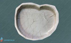 форма брусчатки Спил дерева - 47 см купить в москве
