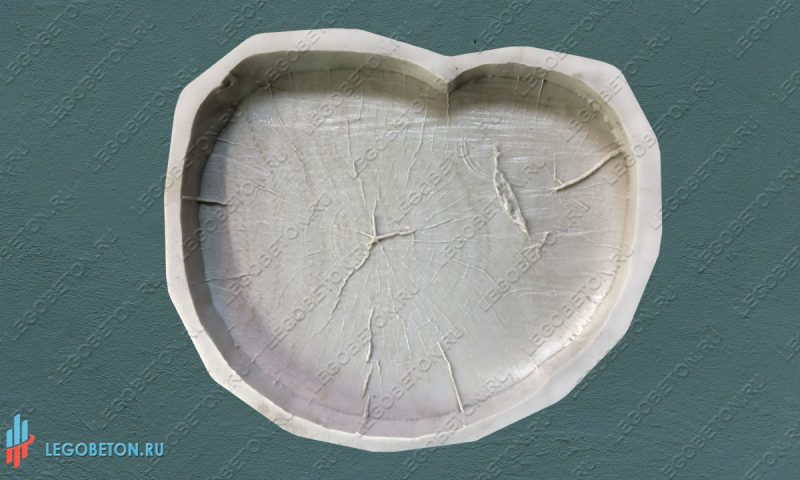 форма брусчатки  Спил дерева — 47 см
