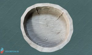 купить форма брусчатки Спил дерева - 26 см в Москве