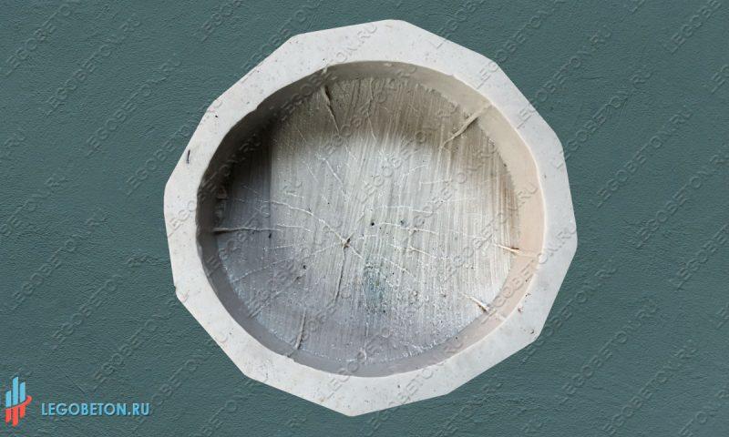 форма брусчатки  Спил дерева — 18 см