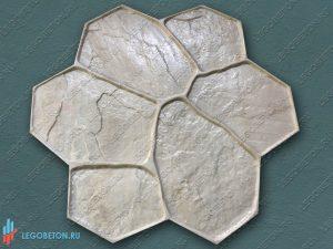 штамп (форма) рваный камень (A) для печатного бетона купить в Москве