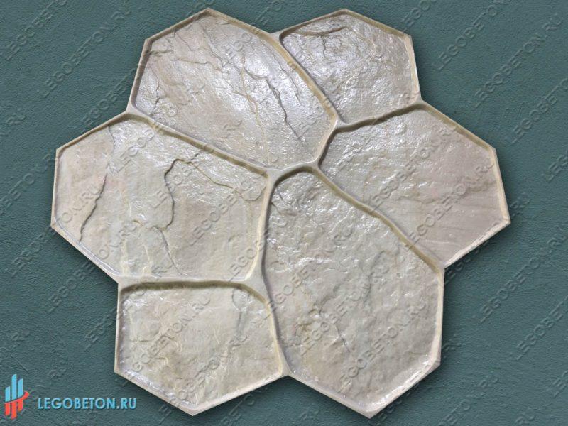 штамп рваный камень (A) для печатного бетона