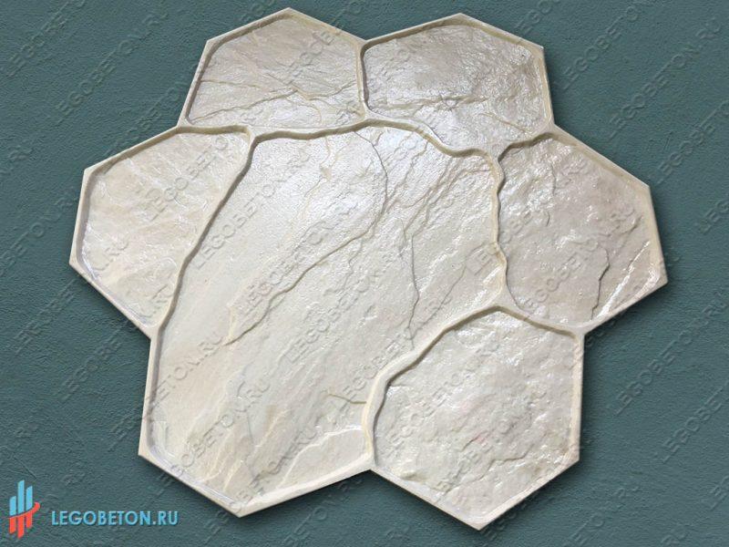 штамп рваный камень (В) для печатного бетона